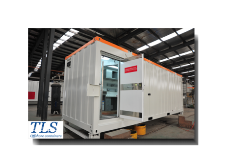 Offshore zone 1 / zone 2 rated pressurised container / mud logging cabin (A60 rated, ATEX), MWD cabin