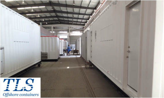 TLS offshore container, pressurised office container, zone 2, zone 1 container