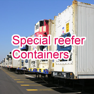 reefer container, freezer container, refrigerated container